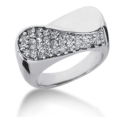 18K Gold Round Diamond Ladies Ring 0.55ct Main Image