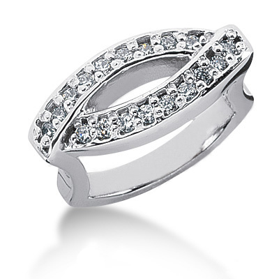 18K Gold Round Diamond Ladies Ring 0.72ct Main Image