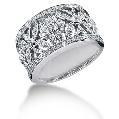 18K Gold Round Diamond Ladies Ring 0.80ct Main Image