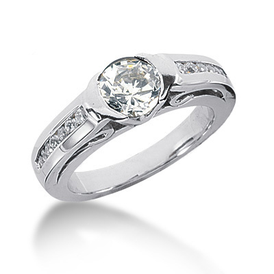 18K Gold Round Diamond Ladies Ring 1.22ct Main Image