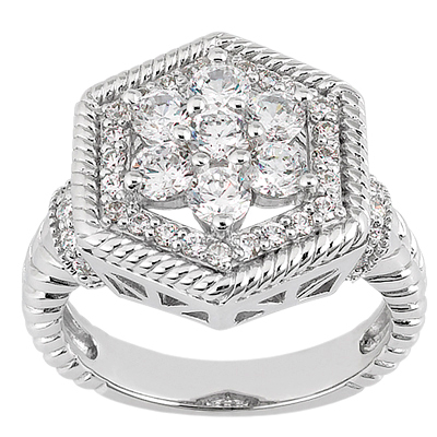 18K Gold Round Diamond Ladies Ring 1.49ct Main Image