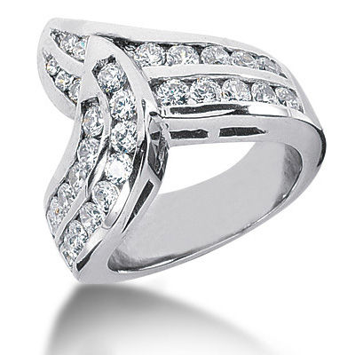 18K Gold Round Diamond Ladies Ring 1.61ct Main Image
