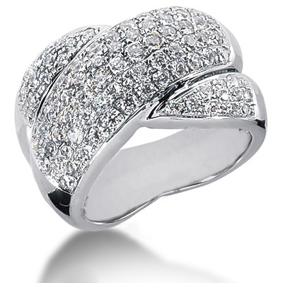 18K Gold Round Diamond Ladies Ring 2.05ct Main Image