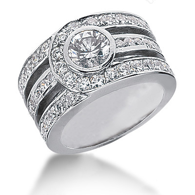18K Gold Round Diamond Ladies Ring 2.37ct Main Image