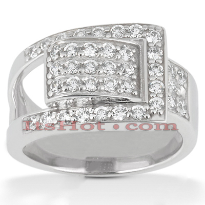 18K Gold Round Diamond Right Hand Ladies Ring 0.50ct