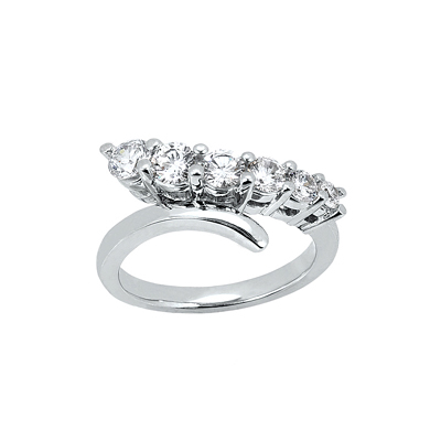 18K Gold Women's Diamond Ring 0.50ct Main Image