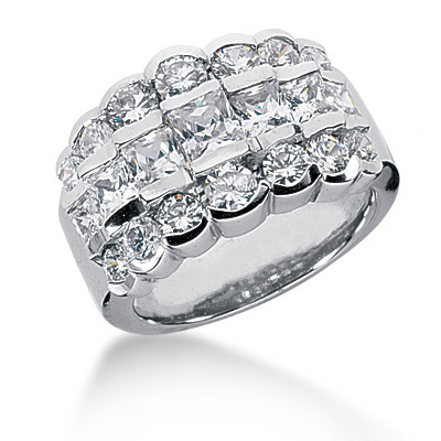 18K Gold Women's Diamond Ring 3.04ct Main Image