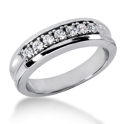 18K Gold Women's Diamond Wedding Band 0.40ct