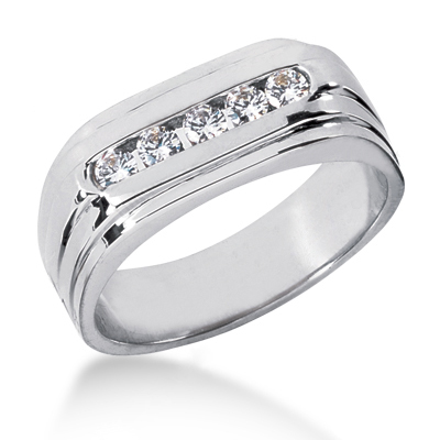 18K Gold Women's Diamond Wedding Ring 0.25ct Main Image
