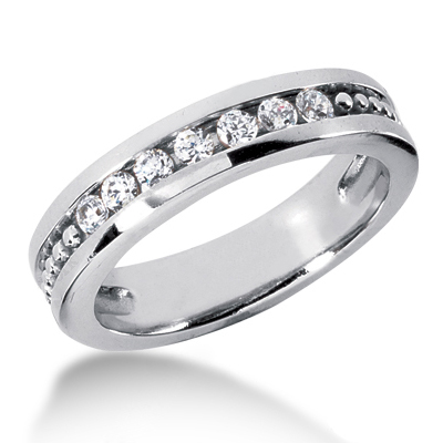 18K Gold Women's Diamond Wedding Ring 0.35ct