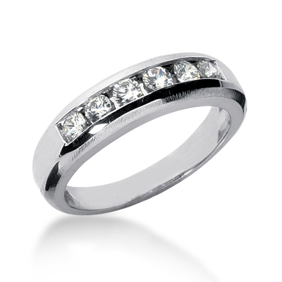 18K Gold Women's Diamond Wedding Ring 0.60ct Main Image