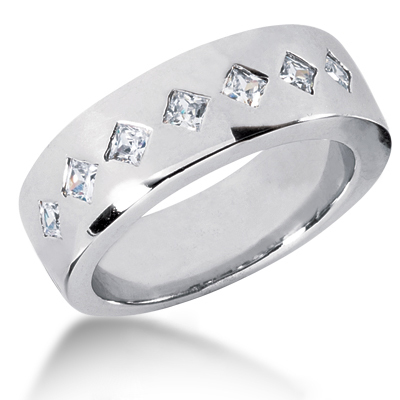 18K Gold Women's Diamond Wedding Ring 0.70ct Main Image