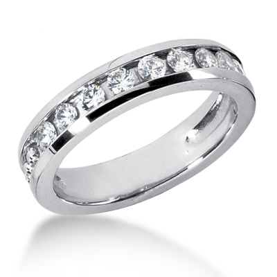 18K Gold Women's Diamond Wedding Ring 0.90ct Main Image
