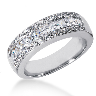 18K Gold Women's Diamond Wedding Ring 1.65ct Main Image