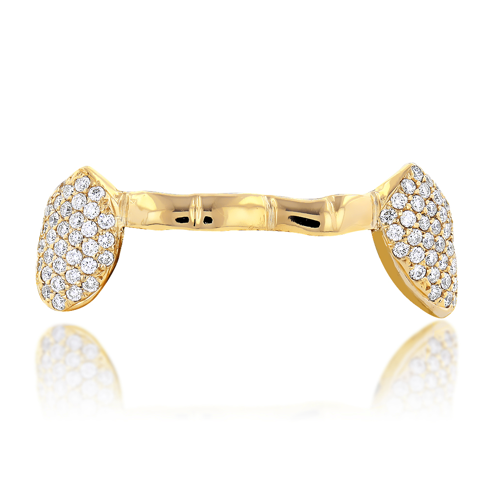 18K Yellow Gold Diamond Beyonce Style Grillz 0.85ct 18k-yellow-gold-diamond-beyonce-style-grillz-085ct_1