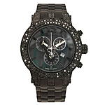 Joe Rodeo Broadway Mens Black Diamond Watch 6.5 ct