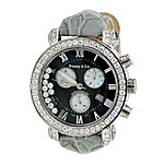 Mens VS Diamond Benny and Co Watch Collection 4ct Grey Swiss Chronograph