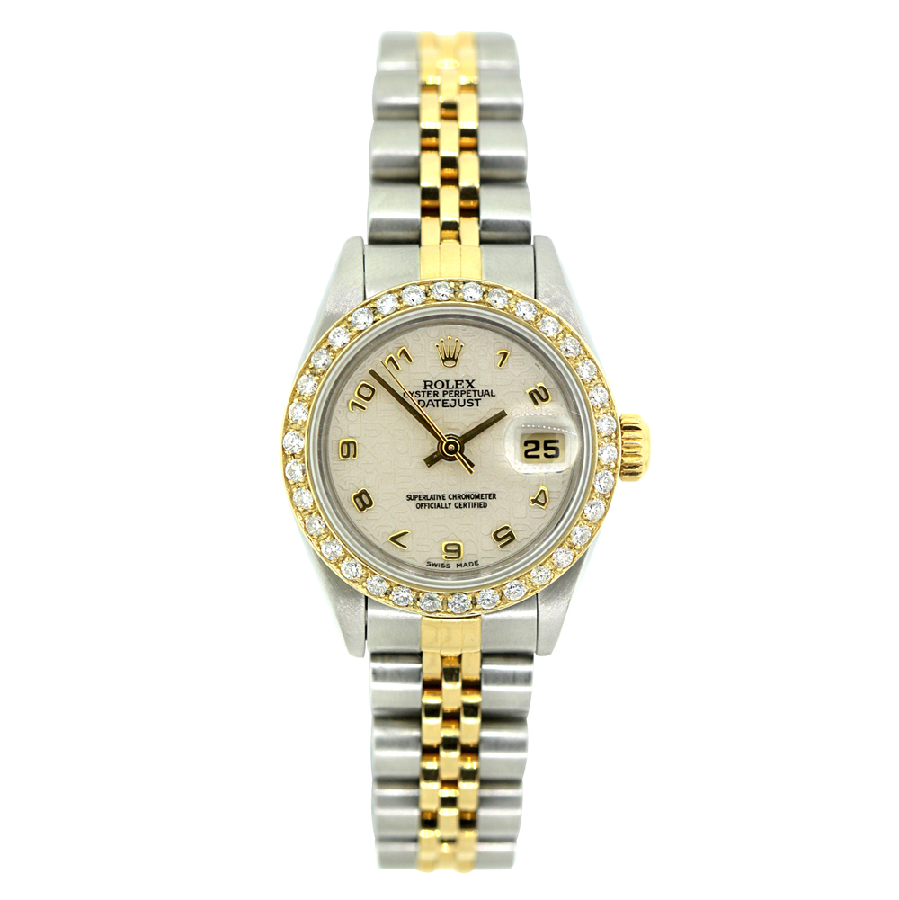 26mm Rolex Oyster Perpetual Datejust Diamond Watch for Women 1ct  Main Image
