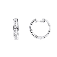 Small Diamond Hoop Earrings For Men and Women 1/2ct Huggies 14k Gold