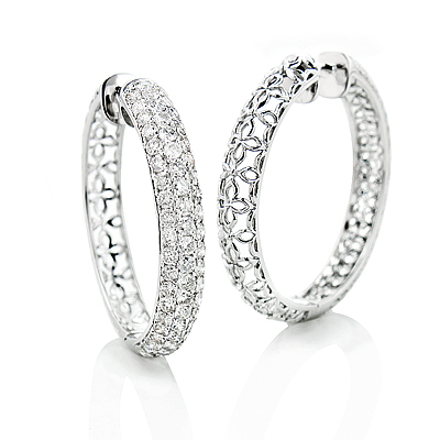 3 Row Diamond Hoop Earrings 4.41ct 14K Gold 3-row-diamond-hoop-earrings-441ct-14k-gold_1