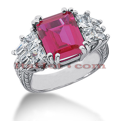 4 Carat Ruby Diamond Ring 14K Gold 1.44ct Main Image
