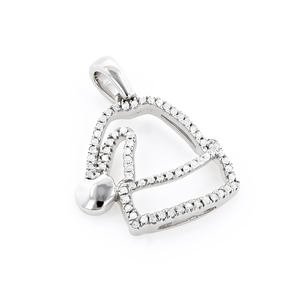Mini Diamond Pendants: Diamond Santa Hat Charm 10K 0.13ct White Image