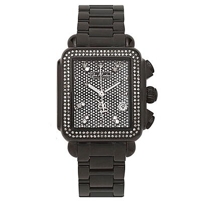 Joe Rodeo Madison Diamond Watch 1.50ct Black Steel