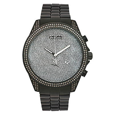 Joe Rodeo Watches: Empire Mens Diamond Watch 2.25ct Black