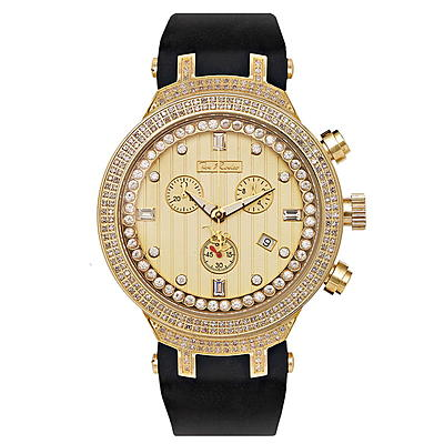 Yellow Gold Tone Watches: Joe Rodeo Mens Diamond Watch 2.20ct Master