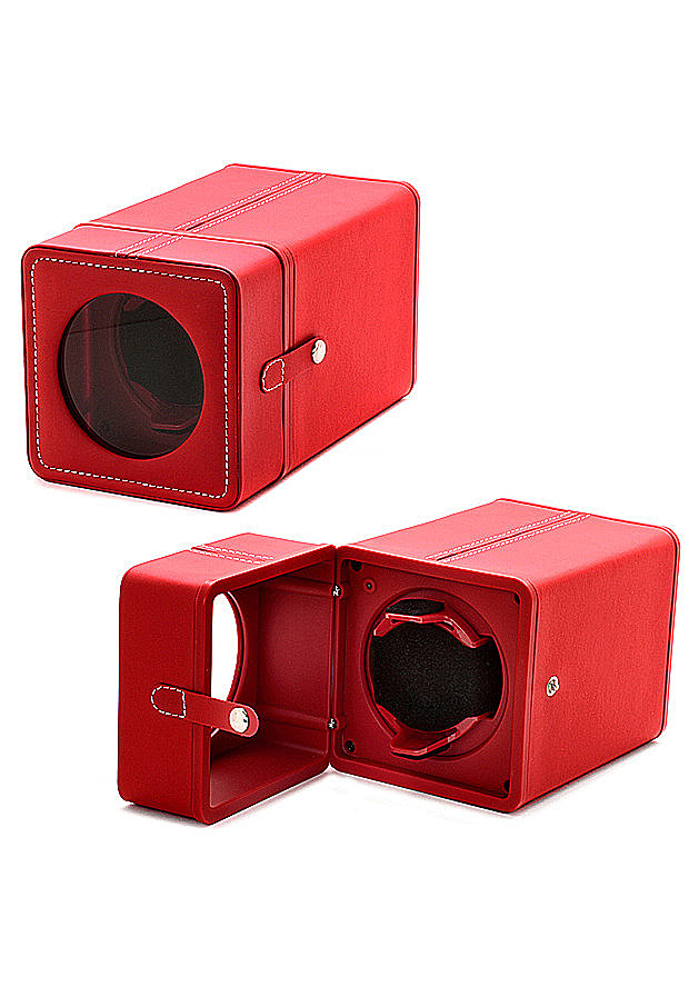 Accessories Watches: Single Red Watch Winder WW-10001-55 Main Image