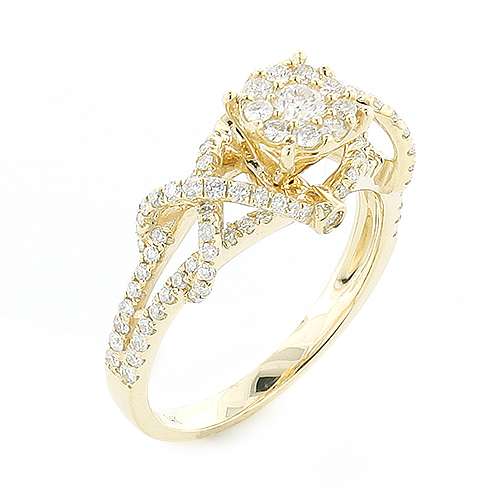 Affordable Criss-cross Diamond Engagement Ring 0.8ct 14K Gold affordable-criss-cross-diamond-engagement-ring-08ct-14k-gold_1