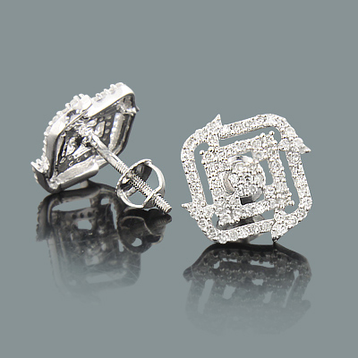Affordable Designer Diamond Stud Earrings 0.54ct 14K Gold