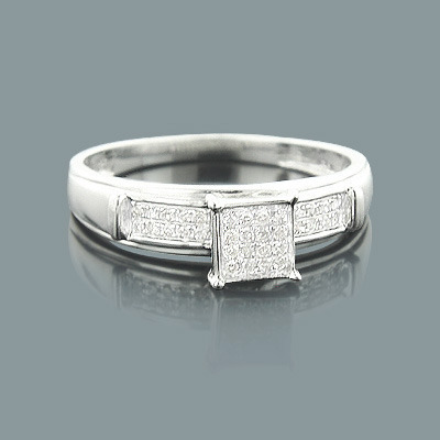 Affordable Diamond Engagement Ring 0.14ct 10K Gold
