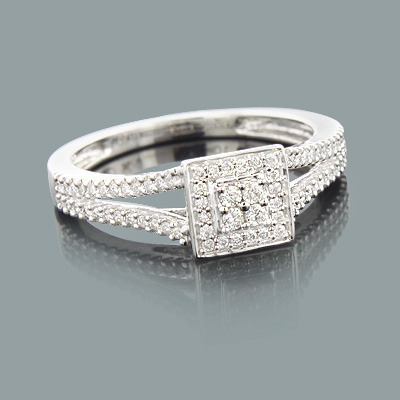 Affordable Diamond Engagement Ring 0.28ct 10K Gold