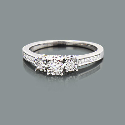 affordable engagement ring 0 29ct 10k promise rings