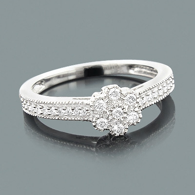Affordable Diamond Engagement Ring 0.30ct 10K Flower Jewelry  affordable-diamond-engagement-ring-030ct-10k-flower-jewelry_1