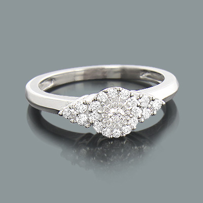 Affordable Diamond Engagement Ring 0.30ct 10K Gold