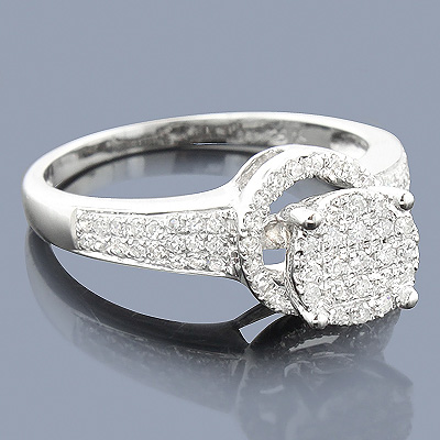 Affordable Diamond Engagement Ring 0.38ct 14K