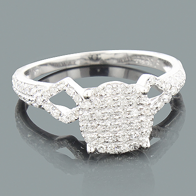 Affordable Diamond Engagement Ring 0.46ct 14K Main Image