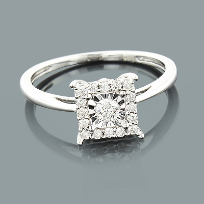 Affordable Diamond Engagement Ring 10K 1 Carat Look