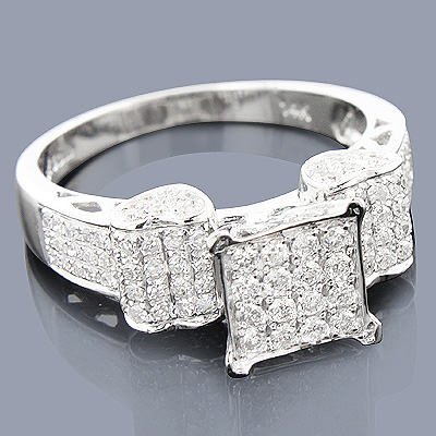 Affordable Diamond Engagement Ring 14K 0.76ct