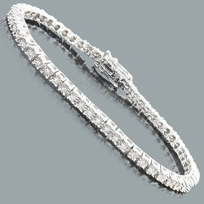 Affordable Diamond Tennis Bracelet in Sterling Silver 0 2ct