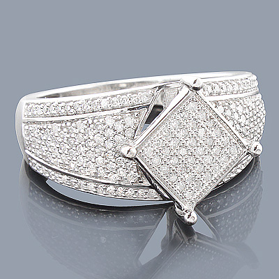 Affordable Engagement Ring with Diamonds 14K 0.63ct Main Image