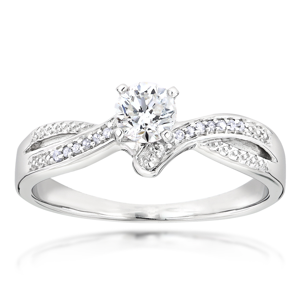 Affordable Engagement Rings 14K Gold Diamond Ring 0.34ct