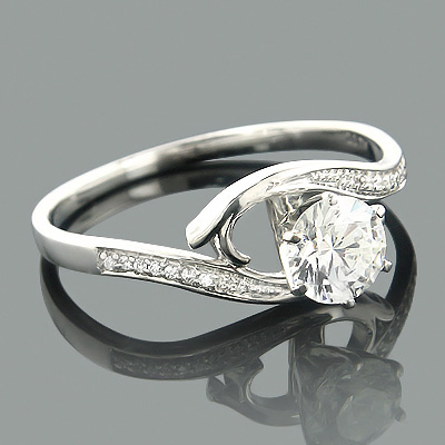 Affordable Engagement Rings 14K Gold Diamond Ring .34ct Main Image