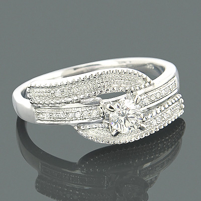 Affordable Engagement Rings 14K Gold Diamond Ring .39ct Main Image