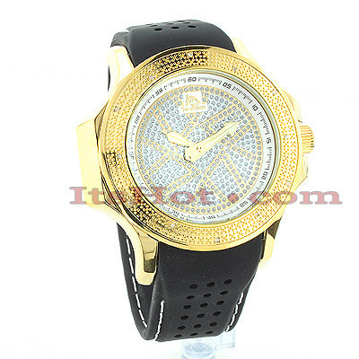 Affordable Mens Diamond Watch by Techno Master 0.12ct Main Image