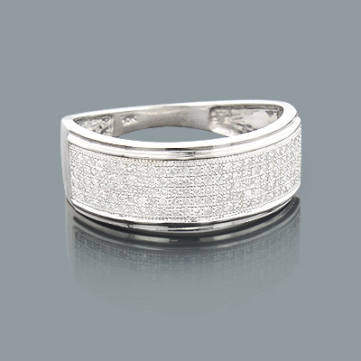 Affordable Mens Wedding Bands: 10K Gold Diamond Ring 0.50ct affordable-mens-wedding-bands-10k-gold-diamond-ring-050ct_1