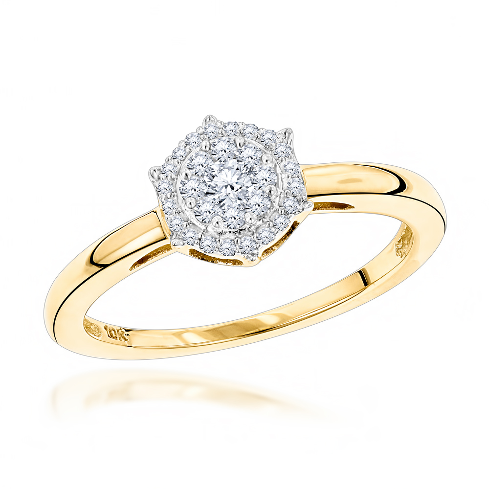 cluster diamond uk products engagement rings gold style co daisy ring