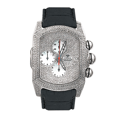 Aqua Master Iced Out Watches Mens Bubble Watch 7.00ct Aqua Master Iced Out Watches Mens Bubble Watch 7.00ct